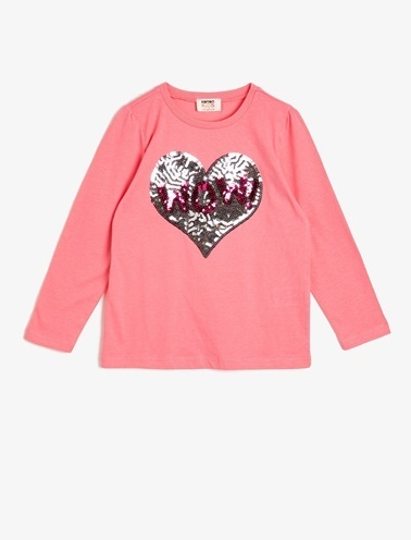 Koton Kids Pul Detayli T-Shirt Pembe